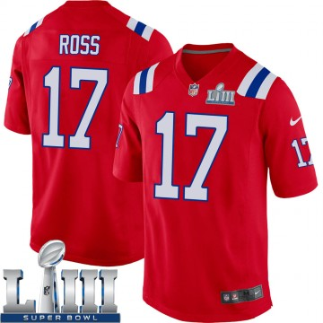 Youth Nike New England Patriots Devin Ross Red Alternate Super Bowl LIII Jersey - Game
