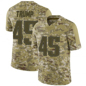 Youth Nike New England Patriots Donald Trump Camo 2018 Salute to Service Jersey - Limited