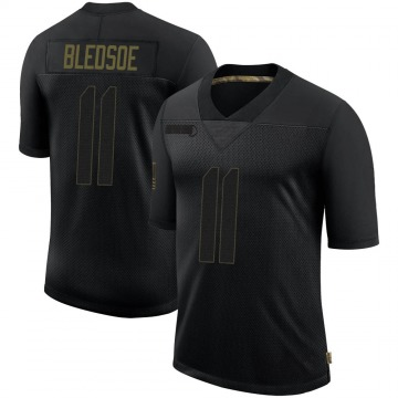 Youth Nike New England Patriots Drew Bledsoe Black 2020 Salute To Service Jersey - Limited