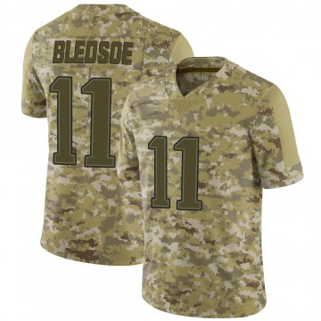 Youth Nike New England Patriots Drew Bledsoe Camo 2018 Salute to Service Jersey - Limited