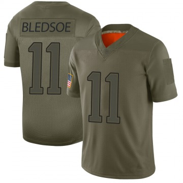 Youth Nike New England Patriots Drew Bledsoe Camo 2019 Salute to Service Jersey - Limited