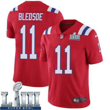 Youth Nike New England Patriots Drew Bledsoe Red Super Bowl LIII Vapor Untouchable Alternate Jersey - Limited