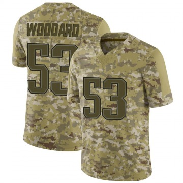 Youth Nike New England Patriots Dustin Woodard Camo 2018 Salute to Service Jersey - Limited