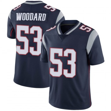 Youth Nike New England Patriots Dustin Woodard Navy 100th Vapor Jersey - Limited