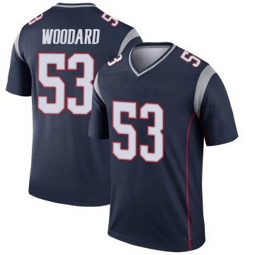 Youth Nike New England Patriots Dustin Woodard Navy Jersey - Legend