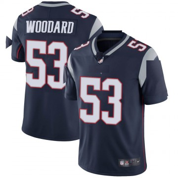 Youth Nike New England Patriots Dustin Woodard Navy Team Color Vapor Untouchable Jersey - Limited