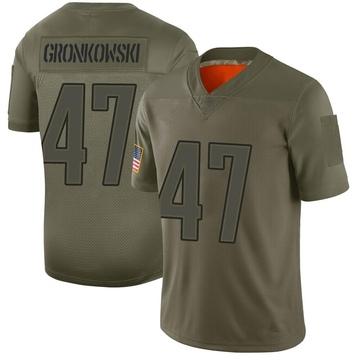 Youth Nike New England Patriots Glenn Gronkowski Camo 2019 Salute to Service Jersey - Limited