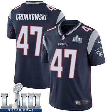 Youth Nike New England Patriots Glenn Gronkowski Navy Team Color Super Bowl LIII Vapor Untouchable Jersey - Limited