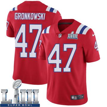 Youth Nike New England Patriots Glenn Gronkowski Red Super Bowl LIII Vapor Untouchable Alternate Jersey - Limited