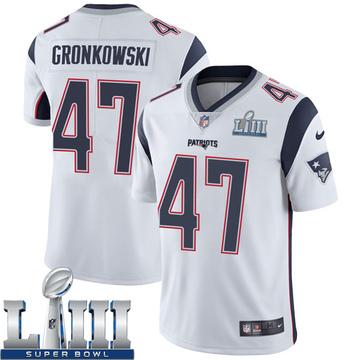 Youth Nike New England Patriots Glenn Gronkowski White Super Bowl LIII Vapor Untouchable Jersey - Limited