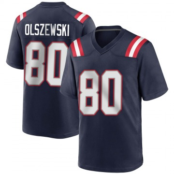 Youth Nike New England Patriots Gunner Olszewski Navy Blue Team Color Jersey - Game