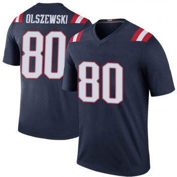 Youth Nike New England Patriots Gunner Olszewski Navy Color Rush Jersey - Legend
