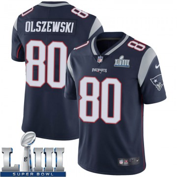 Youth Nike New England Patriots Gunner Olszewski Navy Team Color Super Bowl LIII Vapor Untouchable Jersey - Limited