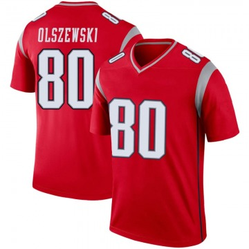 Youth Nike New England Patriots Gunner Olszewski Red Inverted Jersey - Legend