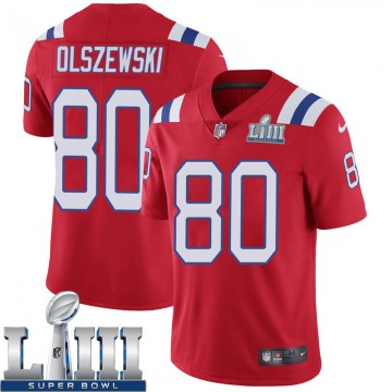Youth Nike New England Patriots Gunner Olszewski Red Super Bowl LIII Vapor Untouchable Alternate Jersey - Limited