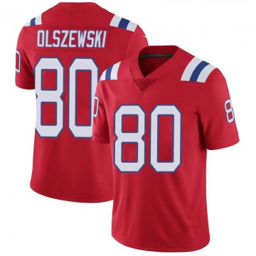 Youth Nike New England Patriots Gunner Olszewski Red Vapor Untouchable Alternate Jersey - Limited