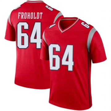 Youth Nike New England Patriots Hjalte Froholdt Red Inverted Jersey - Legend
