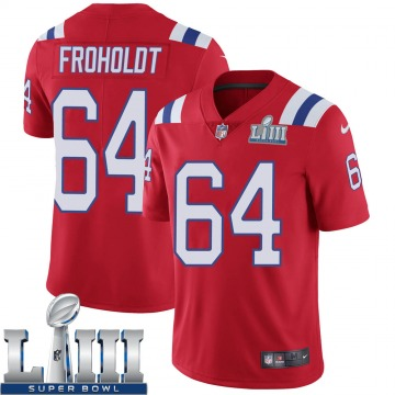Youth Nike New England Patriots Hjalte Froholdt Red Super Bowl LIII Vapor Untouchable Alternate Jersey - Limited