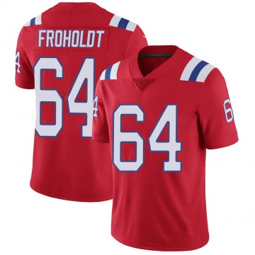 Youth Nike New England Patriots Hjalte Froholdt Red Vapor Untouchable Alternate Jersey - Limited