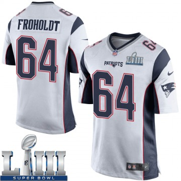 Youth Nike New England Patriots Hjalte Froholdt White Super Bowl LIII Jersey - Game