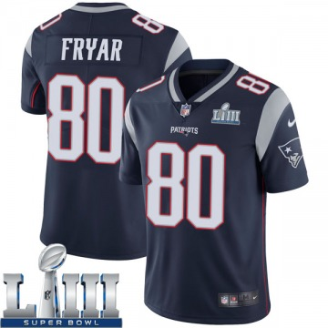 Youth Nike New England Patriots Irving Fryar Navy Team Color Super Bowl LIII Vapor Untouchable Jersey - Limited