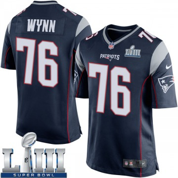 Youth Nike New England Patriots Isaiah Wynn Navy Blue Team Color Super Bowl LIII Jersey - Game