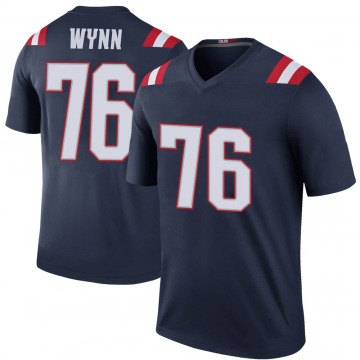 Youth Nike New England Patriots Isaiah Wynn Navy Color Rush Jersey - Legend