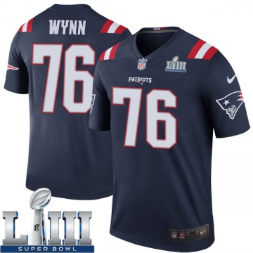 Youth Nike New England Patriots Isaiah Wynn Navy Color Rush Super Bowl LIII Jersey - Legend