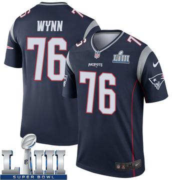 Youth Nike New England Patriots Isaiah Wynn Navy Super Bowl LIII Jersey - Legend