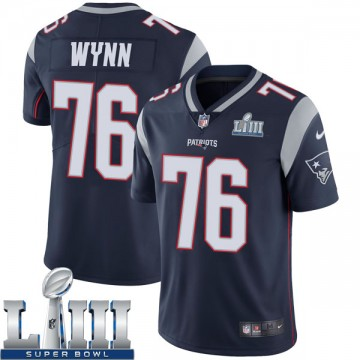 Youth Nike New England Patriots Isaiah Wynn Navy Team Color Super Bowl LIII Vapor Untouchable Jersey - Limited