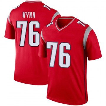 Youth Nike New England Patriots Isaiah Wynn Red Inverted Jersey - Legend