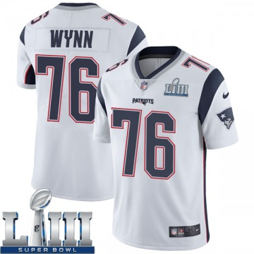 Youth Nike New England Patriots Isaiah Wynn White Super Bowl LIII Vapor Untouchable Jersey - Limited