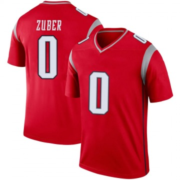 Youth Nike New England Patriots Isaiah Zuber Red Inverted Jersey - Legend