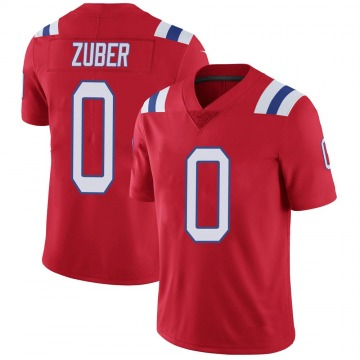 Youth Nike New England Patriots Isaiah Zuber Red Vapor Untouchable Alternate Jersey - Limited