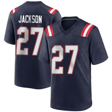 Youth Nike New England Patriots J.C. Jackson Navy Blue Team Color Jersey - Game