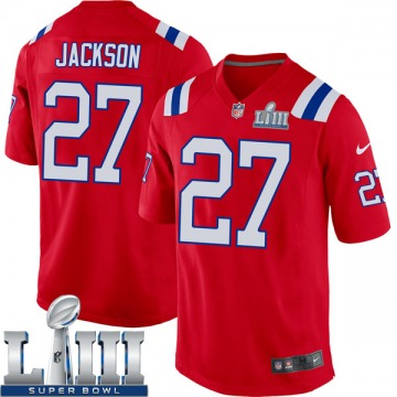 Youth Nike New England Patriots J.C. Jackson Red Alternate Super Bowl LIII Jersey - Game