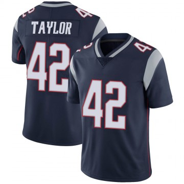 Youth Nike New England Patriots J.J. Taylor Navy 100th Vapor Jersey - Limited