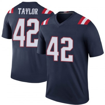 Youth Nike New England Patriots J.J. Taylor Navy Color Rush Jersey - Legend