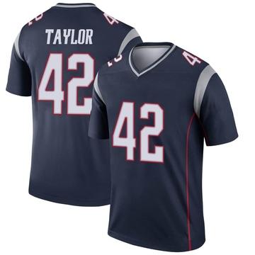 Youth Nike New England Patriots J.J. Taylor Navy Jersey - Legend