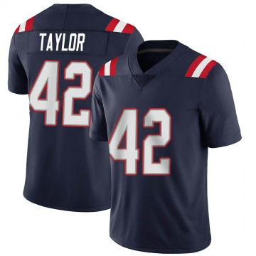 Youth Nike New England Patriots J.J. Taylor Navy Team Color Vapor Untouchable Jersey - Limited