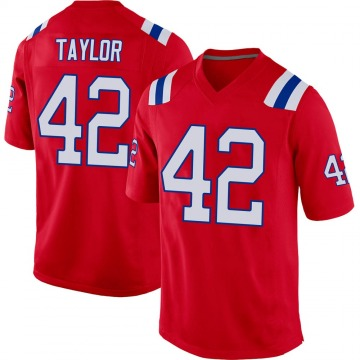 Youth Nike New England Patriots J.J. Taylor Red Alternate Jersey - Game
