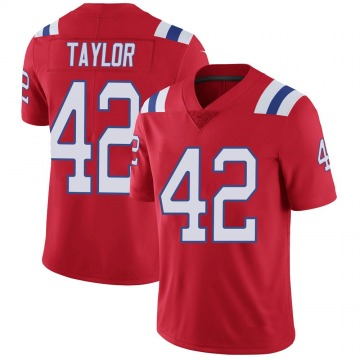 Youth Nike New England Patriots J.J. Taylor Red Vapor Untouchable Alternate Jersey - Limited