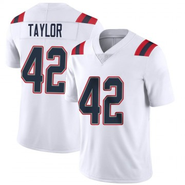 Youth Nike New England Patriots J.J. Taylor White Vapor Untouchable Jersey - Limited
