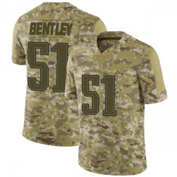Youth Nike New England Patriots Ja'Whaun Bentley Camo 2018 Salute to Service Jersey - Limited