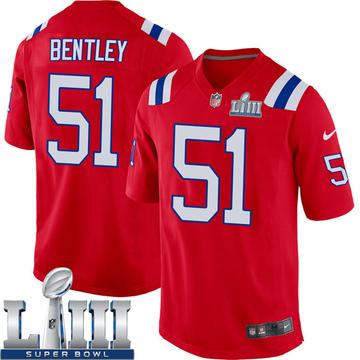 Youth Nike New England Patriots Ja'Whaun Bentley Red Alternate Super Bowl LIII Jersey - Game