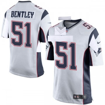 Youth Nike New England Patriots Ja'Whaun Bentley White Jersey - Game