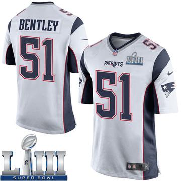 Youth Nike New England Patriots Ja'Whaun Bentley White Super Bowl LIII Jersey - Game
