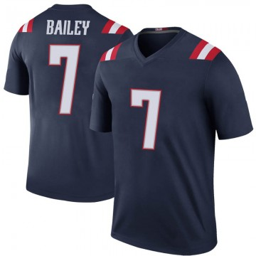 Youth Nike New England Patriots Jake Bailey Navy Color Rush Jersey - Legend