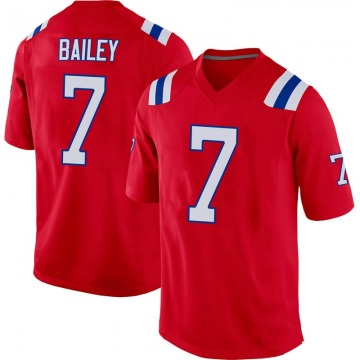 Youth Nike New England Patriots Jake Bailey Red Alternate Jersey - Game