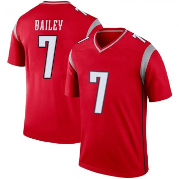Youth Nike New England Patriots Jake Bailey Red Inverted Jersey - Legend